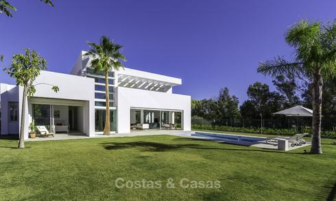 Newly built beach side luxury villa in contemporary style for sale, move-in ready, Marbella - Estepona 15799