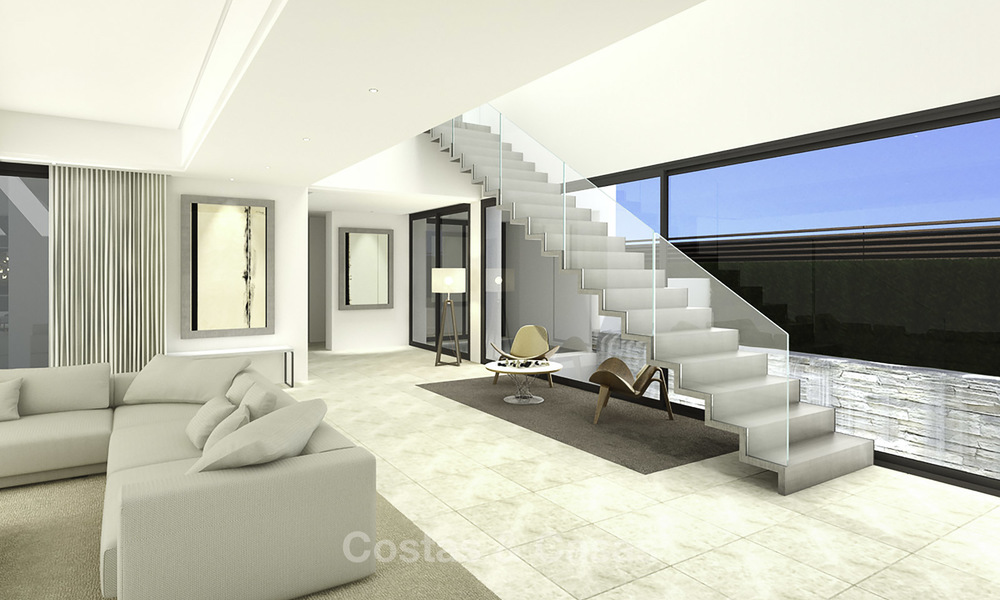 Beautiful contemporary luxury villa with sea and mountain views for sale, Benahavis - Marbella 15887