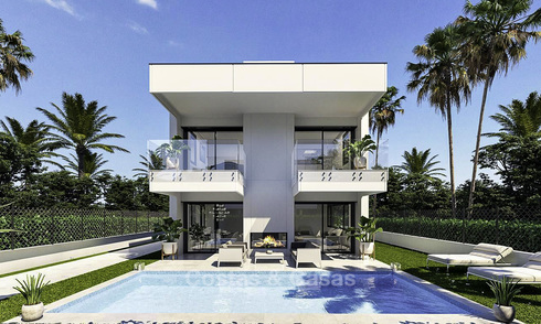 Stylish new modern beach side villas for sale, walking distance to the beach, Puerto Banus, Marbella 15902
