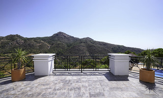 Charming rustic-modern luxury villa for sale with fantastic views in a gorgeous country estate, Benahavis - Marbella 16116
