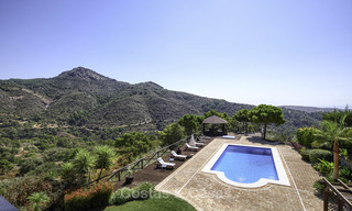 Charming rustic-modern luxury villa for sale with fantastic views in a gorgeous country estate, Benahavis - Marbella 16118