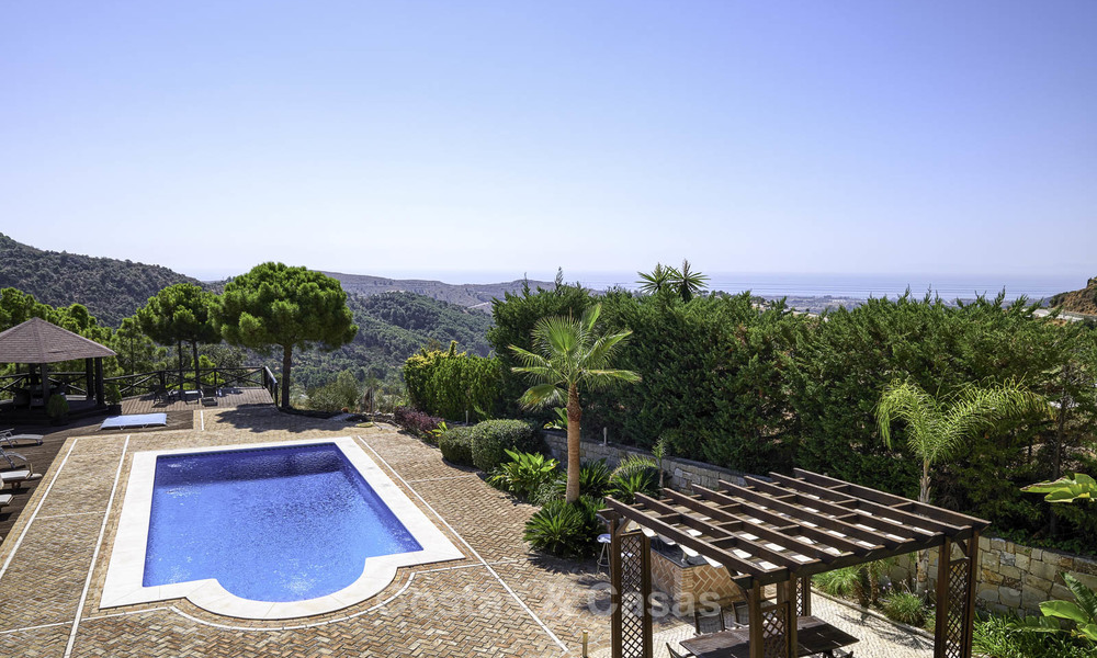 Charming rustic-modern luxury villa for sale with fantastic views in a gorgeous country estate, Benahavis - Marbella 16120