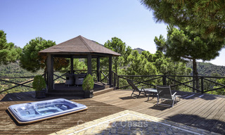 Charming rustic-modern luxury villa for sale with fantastic views in a gorgeous country estate, Benahavis - Marbella 16131