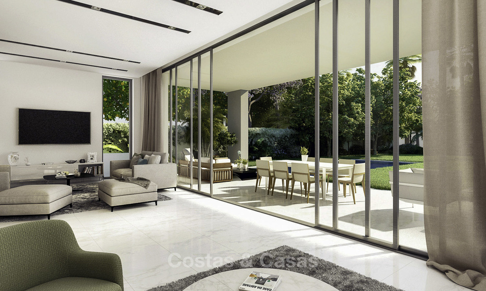 Beautiful new modern luxury villas in a privileged beach side location for sale, Puerto Banus, Marbella 16200