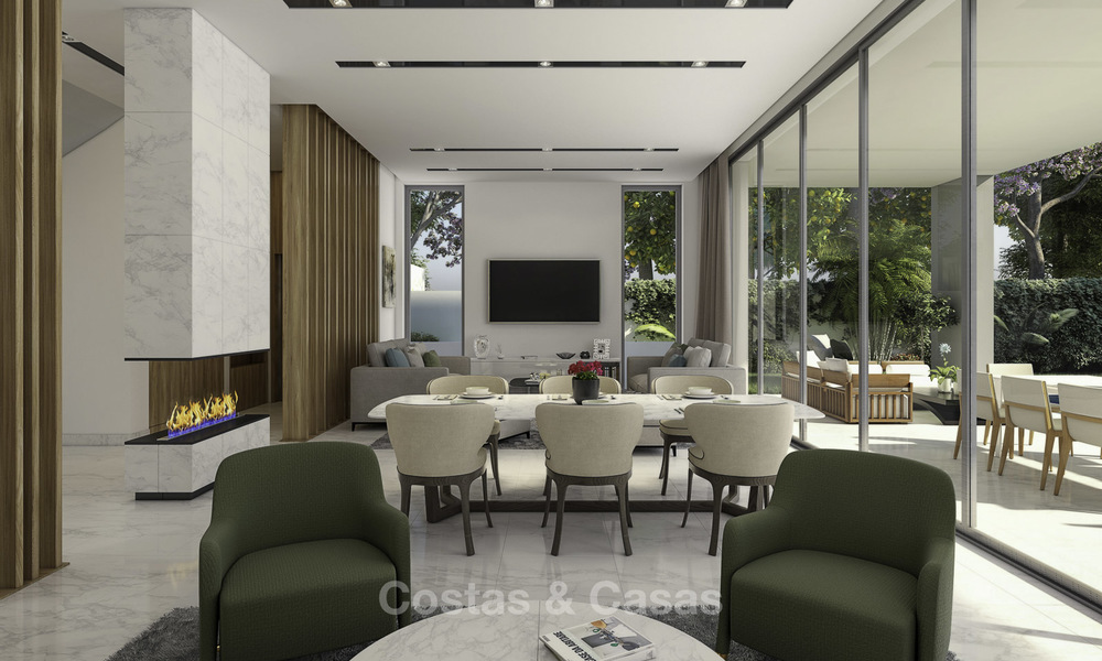Beautiful new modern luxury villas in a privileged beach side location for sale, Puerto Banus, Marbella 16202