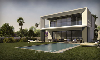 Beautiful new modern luxury villas in a privileged beach side location for sale, Puerto Banus, Marbella 16204