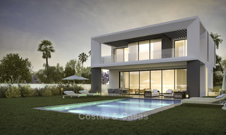 Beautiful new modern luxury villas in a privileged beach side location for sale, Puerto Banus, Marbella 16205