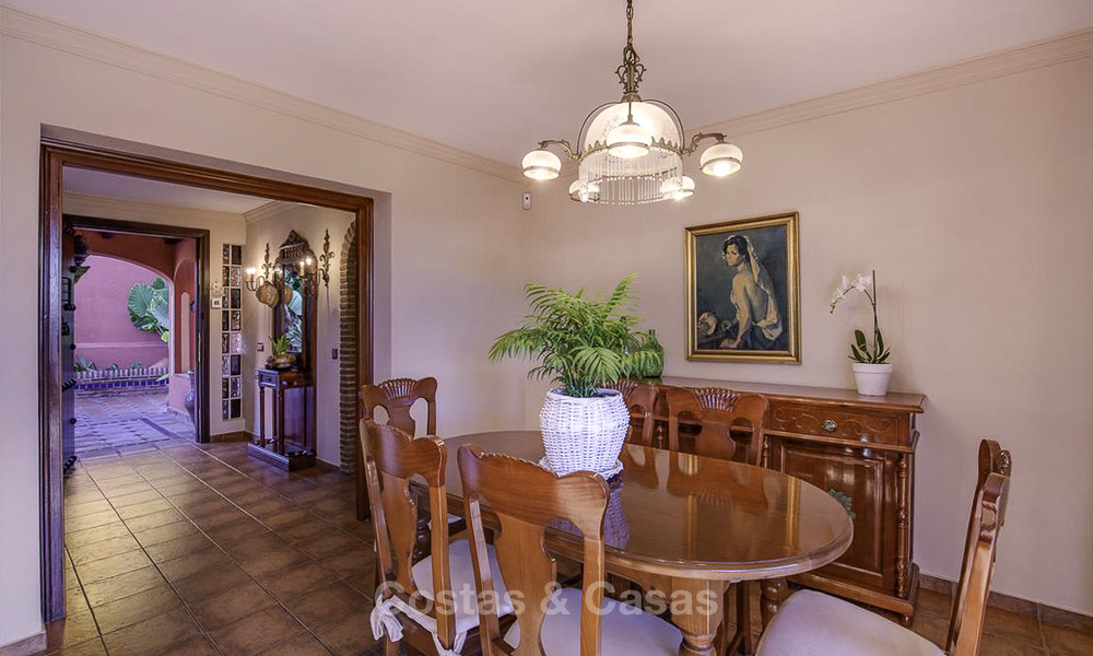 Peaceful Andalusian style villa with separate guest house for sale in the centre of Marbella city 16251
