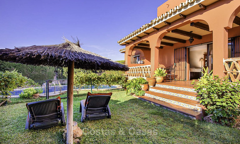 Peaceful Andalusian style villa with separate guest house for sale in the centre of Marbella city 16255