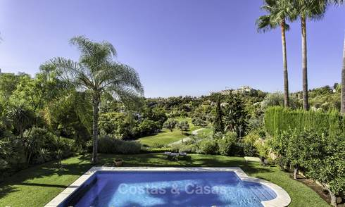 Charming modern-Mediterranean luxury villa for sale, frontline golf, Benahavis - Marbella 16294