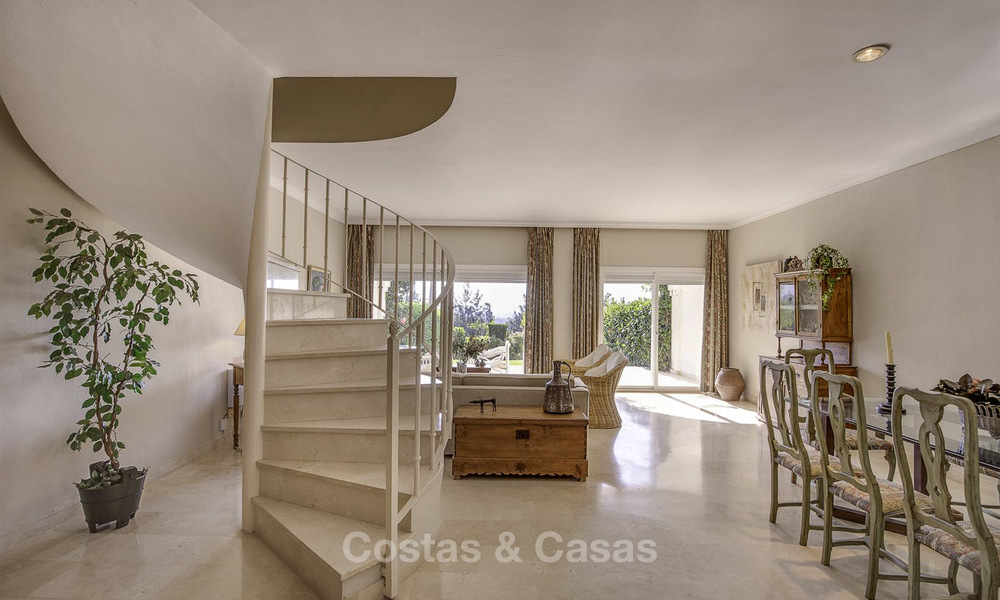 For sale: 4-bed front line golf townhouse with sea and mountain views in a superb resort in Benahavis - Marbella 16313