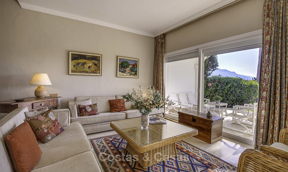 For sale: 4-bed front line golf townhouse with sea and mountain views in a superb resort in Benahavis - Marbella 16318