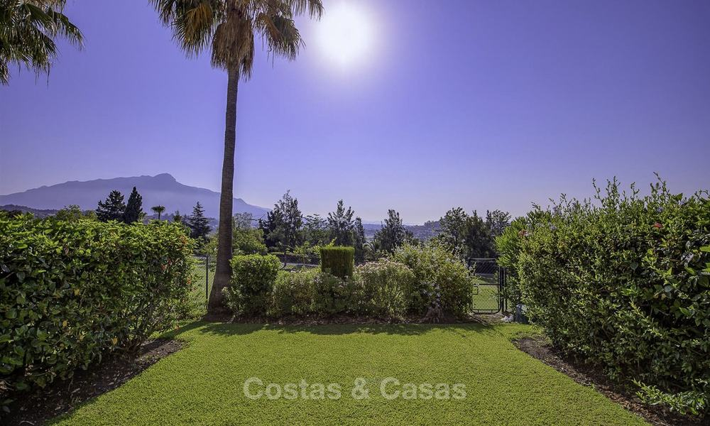 For sale: 4-bed front line golf townhouse with sea and mountain views in a superb resort in Benahavis - Marbella 16322