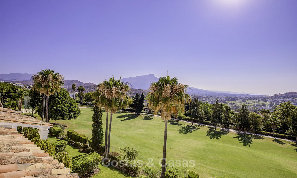 For sale: 4-bed front line golf townhouse with sea and mountain views in a superb resort in Benahavis - Marbella 16335