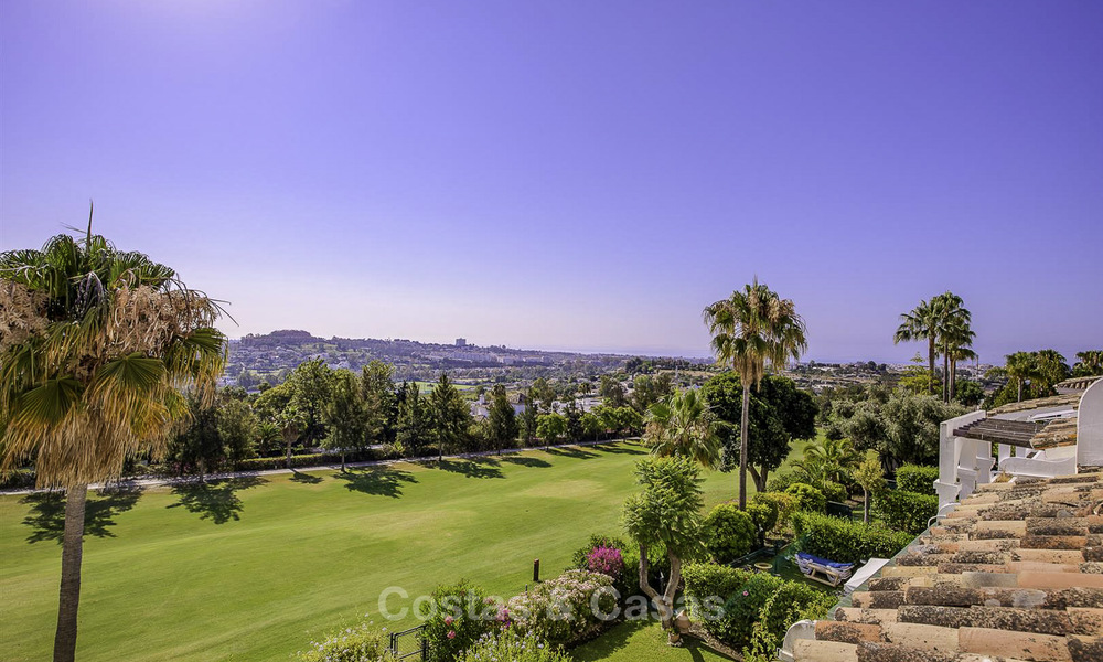 For sale: 4-bed front line golf townhouse with sea and mountain views in a superb resort in Benahavis - Marbella 16336