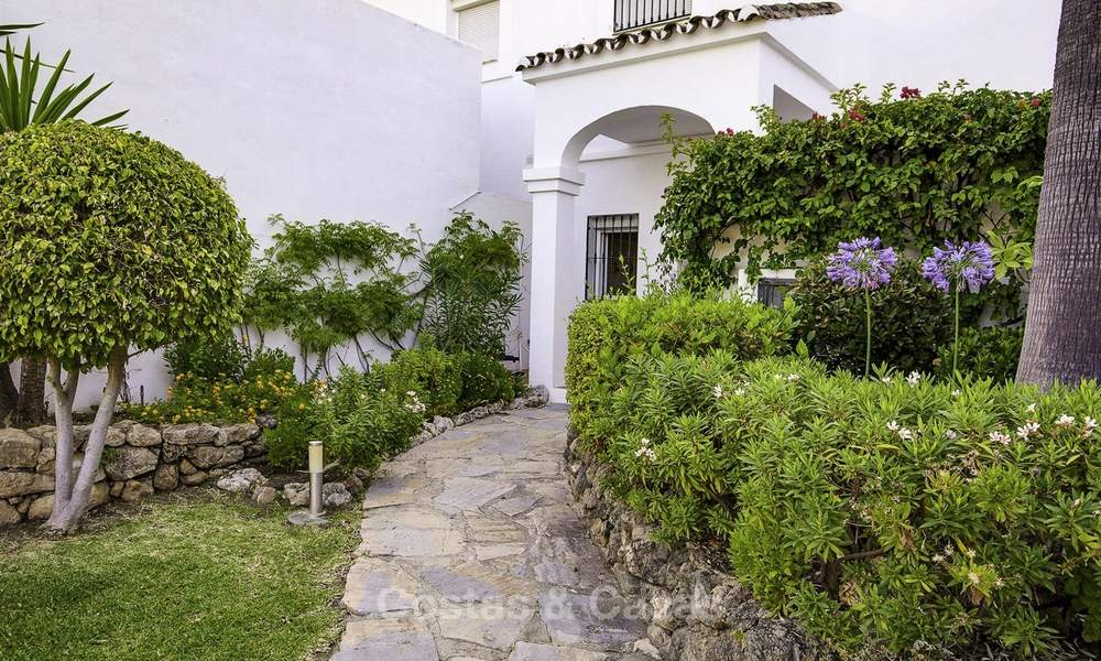 For sale: 4-bed front line golf townhouse with sea and mountain views in a superb resort in Benahavis - Marbella 16337