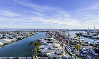 Hip, fully furnished and modernized penthouse apartment for sale, first line in the marina of Puerto Banus, Marbella 16347