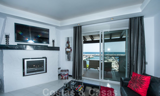 Hip, fully furnished and modernized penthouse apartment for sale, first line in the marina of Puerto Banus, Marbella 28238