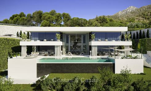 Exceptional avant-gardist luxury villa with breath taking sea views for sale, Benahavis - Marbella 16363