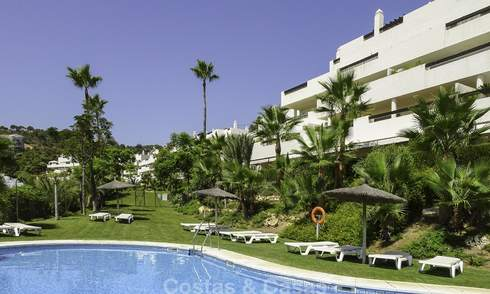 Attractive modern apartment with sea views for sale, in a quality gated complex, Benahavis - Marbella 16496