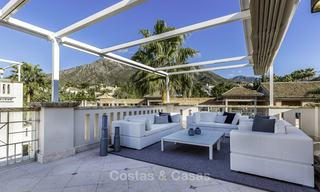 Stunning luxury corner townhouse with breath-taking sea and mountain views for sale, in Sierra Blanca, Golden Mile, Marbella 16500