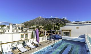 Stunning luxury corner townhouse with breath-taking sea and mountain views for sale, in Sierra Blanca, Golden Mile, Marbella 16501