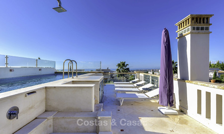 Stunning luxury corner townhouse with breath-taking sea and mountain views for sale, in Sierra Blanca, Golden Mile, Marbella 16502