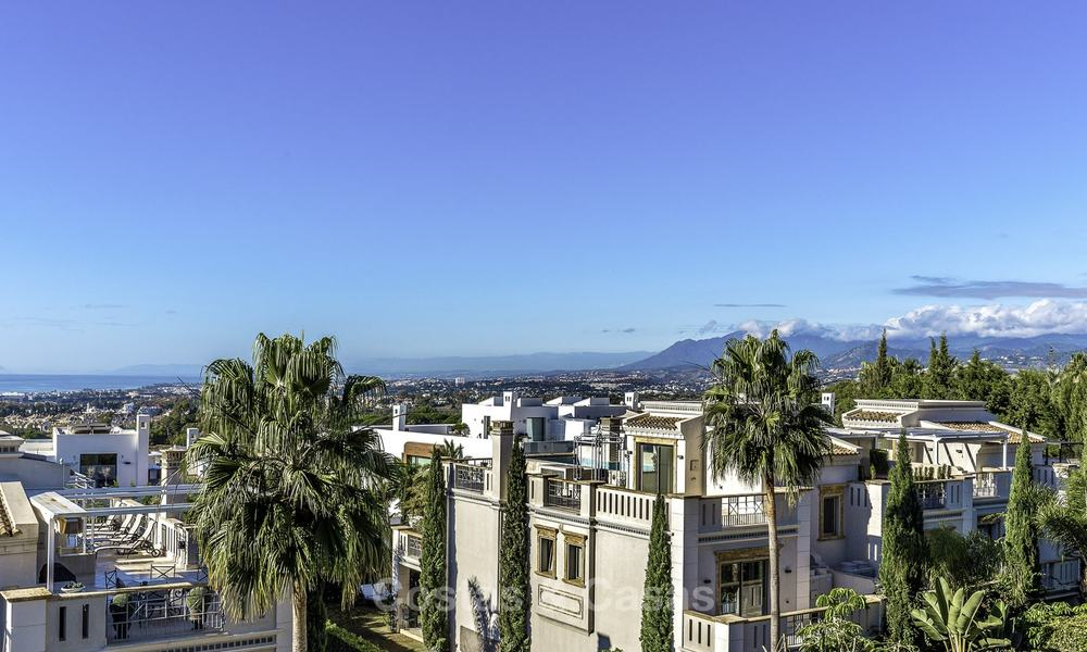 Stunning luxury corner townhouse with breath-taking sea and mountain views for sale, in Sierra Blanca, Golden Mile, Marbella 16503