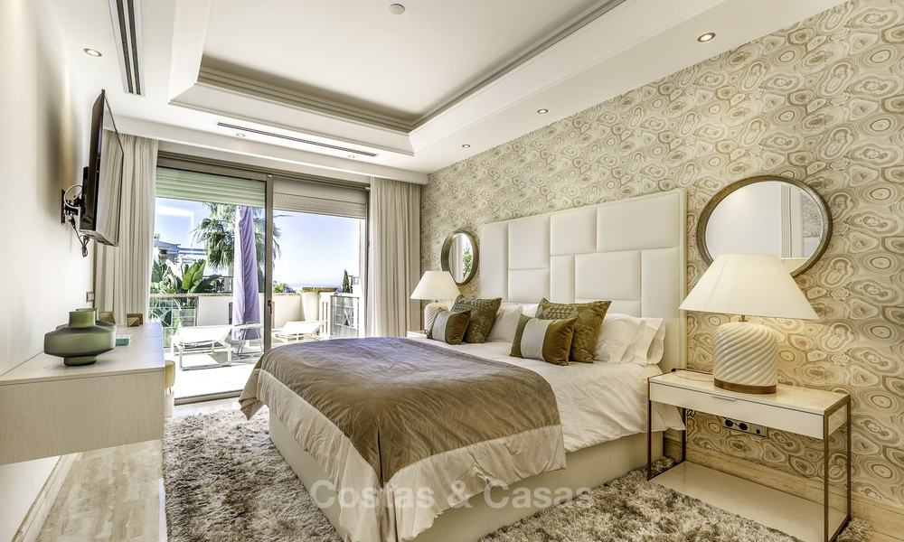 Stunning luxury corner townhouse with breath-taking sea and mountain views for sale, in Sierra Blanca, Golden Mile, Marbella 16504