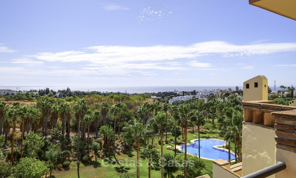 Rare, very spacious 5-bed penthouse apartmentwith sea and mountain views for sale on the Golden Mile in Marbella 16557