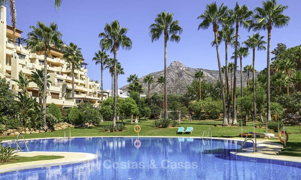 Rare, very spacious 5-bed penthouse apartmentwith sea and mountain views for sale on the Golden Mile in Marbella 16579