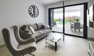 Brand new, move-in ready, modern garden apartment for sale, walking distance to the beach and amenities, between Marbella en Estepona 16945