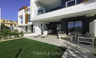 Brand new, move-in ready, modern garden apartment for sale, walking distance to the beach and amenities, between Marbella en Estepona 16962