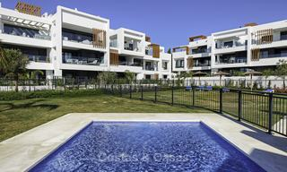 Brand new, move-in ready, modern garden apartment for sale, walking distance to the beach and amenities, between Marbella en Estepona 16964