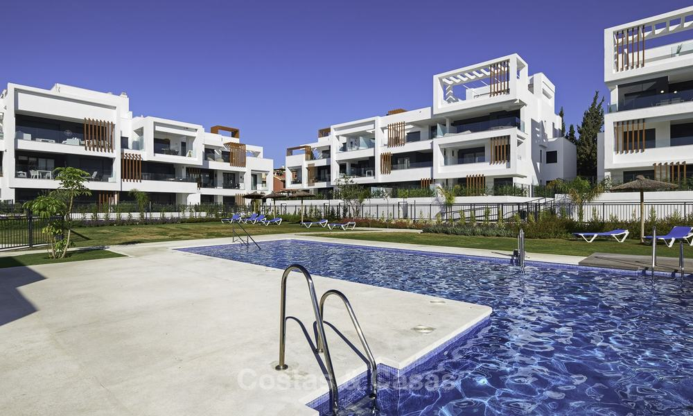 Brand new, move-in ready, modern garden apartment for sale, walking distance to the beach and amenities, between Marbella en Estepona 16966