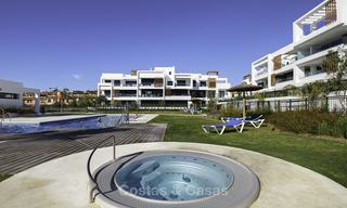 Brand new, move-in ready, modern garden apartment for sale, walking distance to the beach and amenities, between Marbella en Estepona 16967