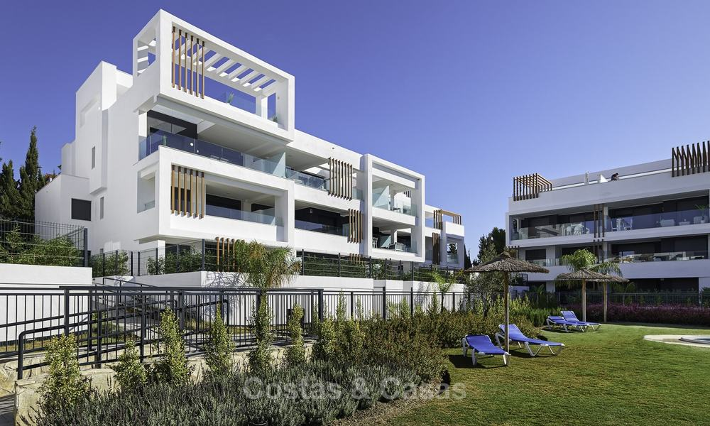 Brand new, move-in ready, modern garden apartment for sale, walking distance to the beach and amenities, between Marbella en Estepona 16968