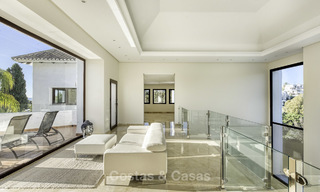 Modern-mediterranean luxury villa with guest quarters for sale, with sea views on the Golden Mile, Marbella 17035