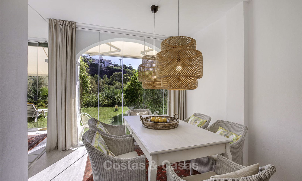Cosy garden apartment for sale adjacent to a prestigious golf resort in Benahavis - Marbella 17067