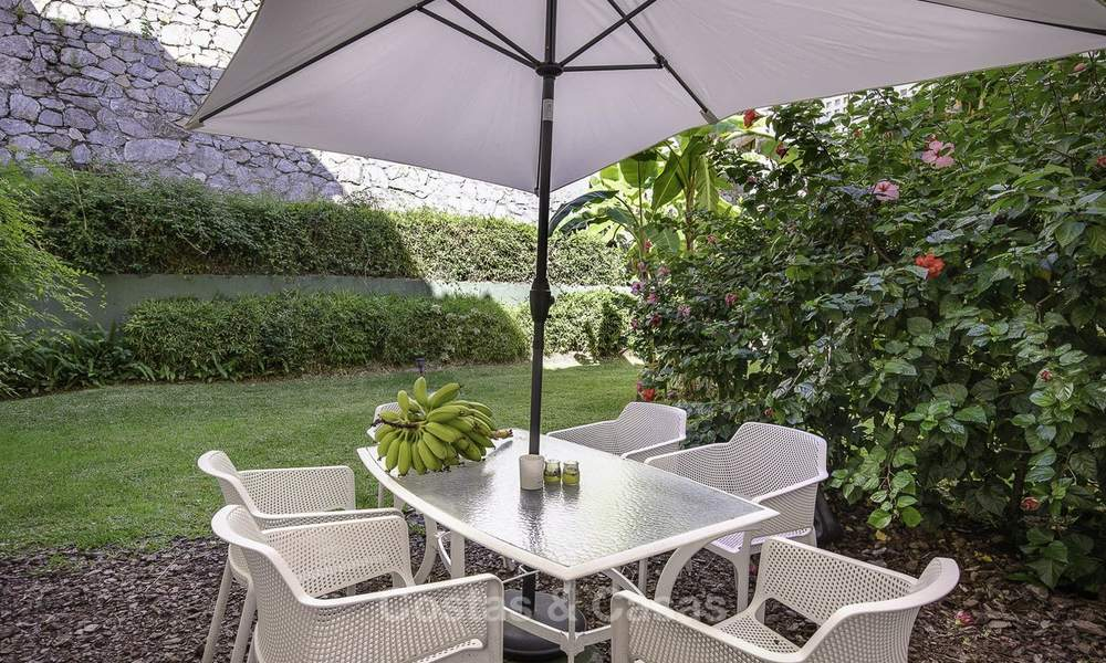 Cosy garden apartment for sale adjacent to a prestigious golf resort in Benahavis - Marbella 17075