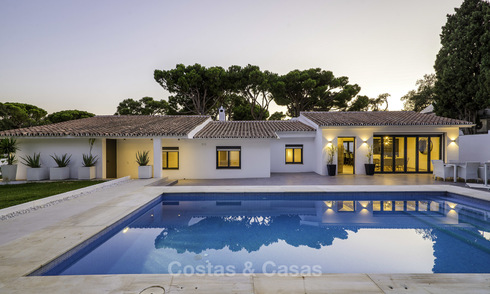 Attractive renovated Mediterranean luxury villa for sale, close to golf, amenities and beach in East Marbella 17341