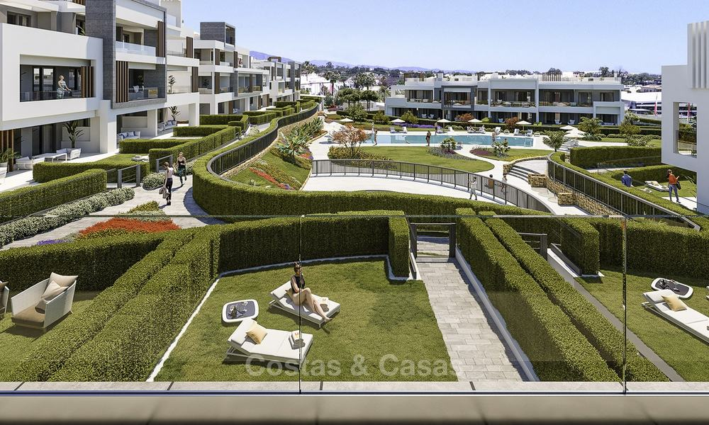 Attractive new modern apartments for sale, walking distance to beach and amenities, between Marbella and Estepona 17350