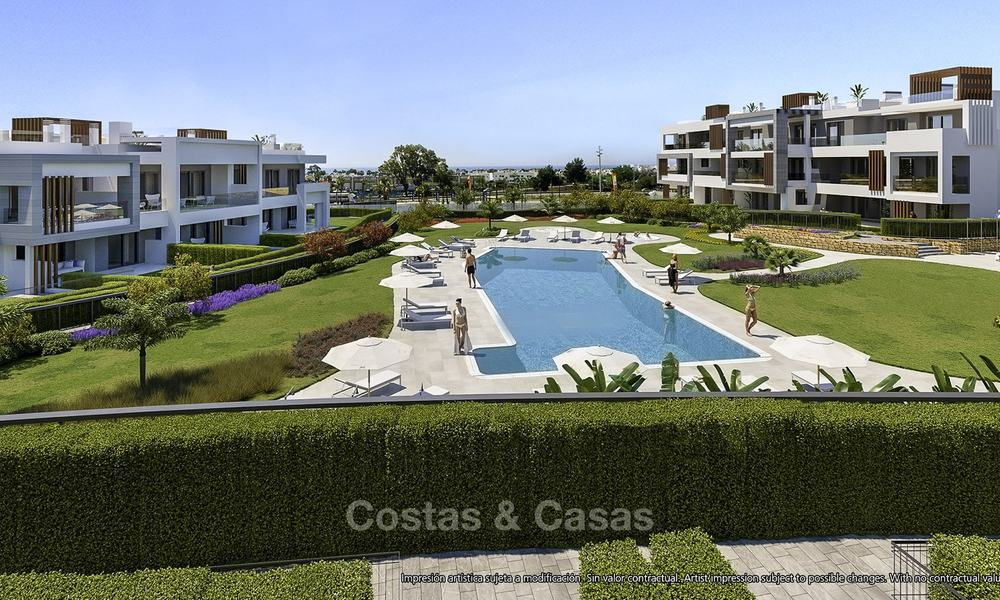 Attractive new modern apartments for sale, walking distance to beach and amenities, between Marbella and Estepona 17352