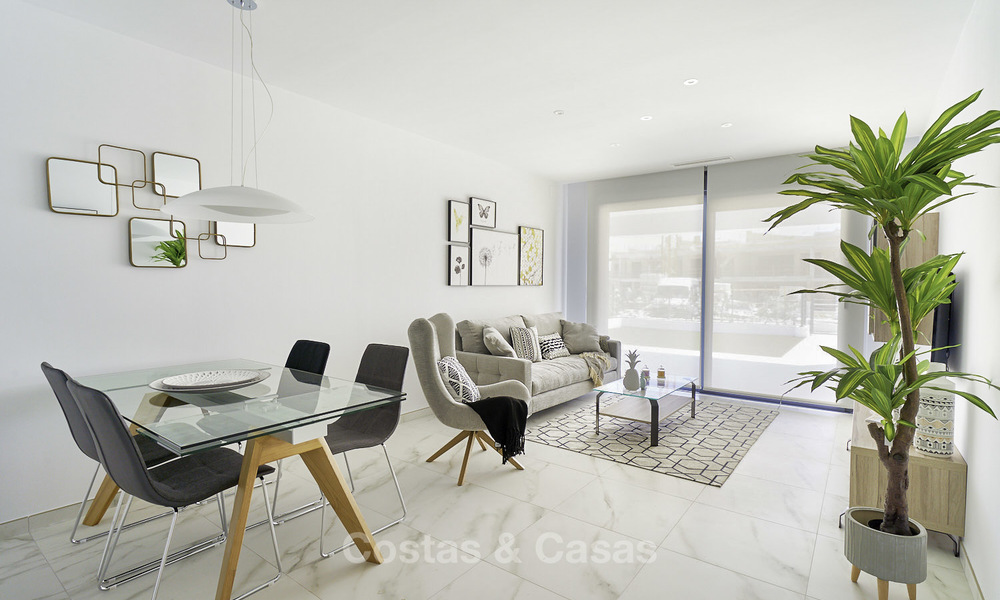 Attractive new modern apartments for sale, walking distance to beach and amenities, between Marbella and Estepona 17355