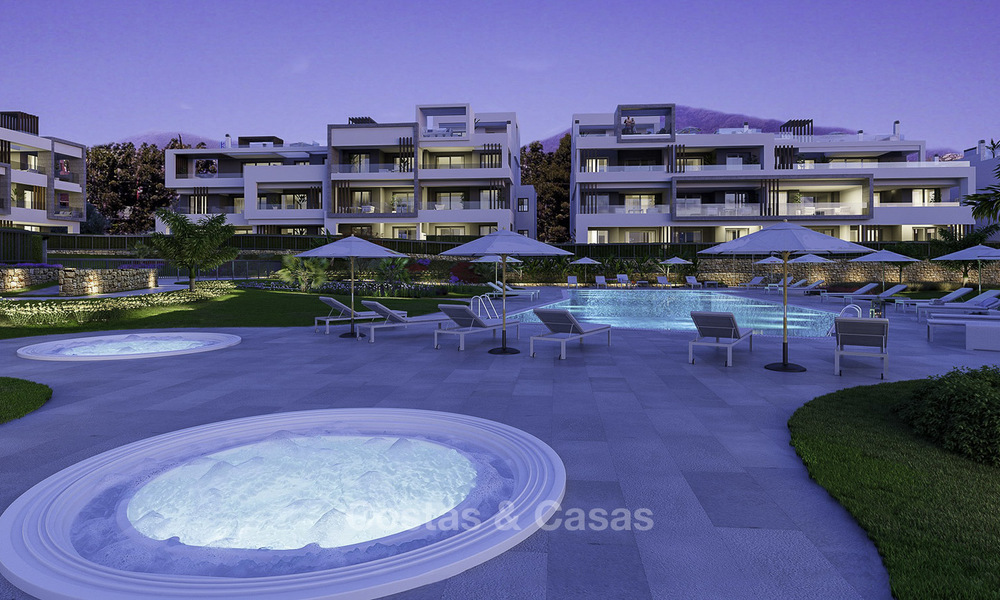 Attractive new modern apartments for sale, walking distance to beach and amenities, between Marbella and Estepona 17370