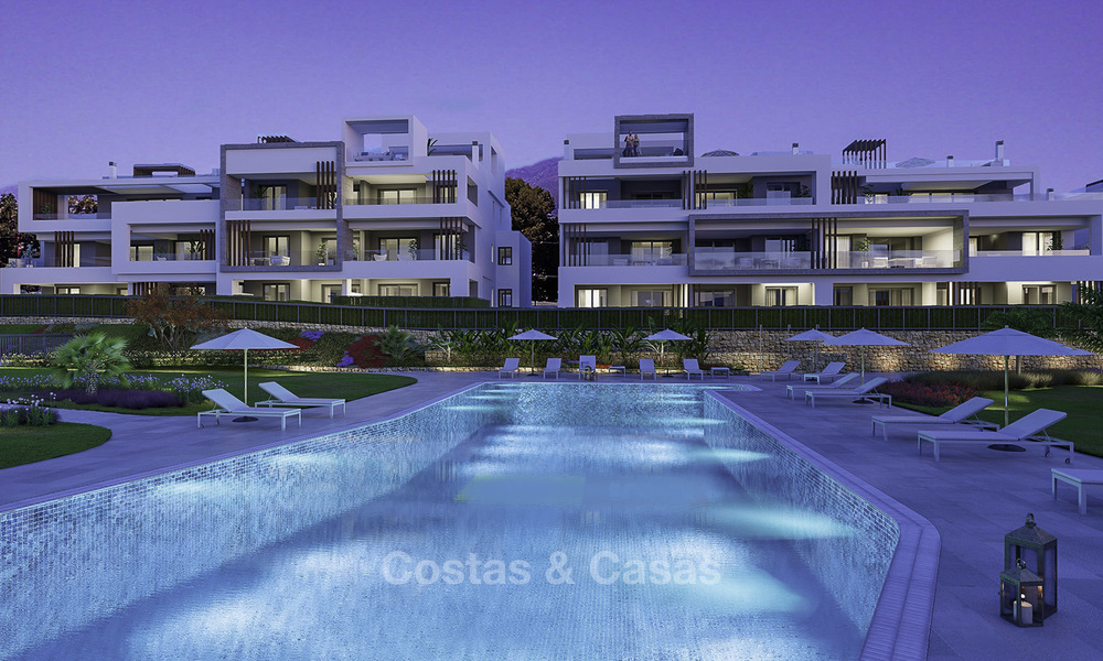 Attractive new modern apartments for sale, walking distance to beach and amenities, between Marbella and Estepona 17371