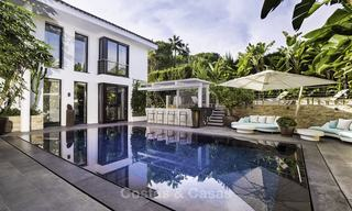 Stunning and unique contemporary luxury villa for sale, in an exclusive beachside urbanisation in East Marbella 17374