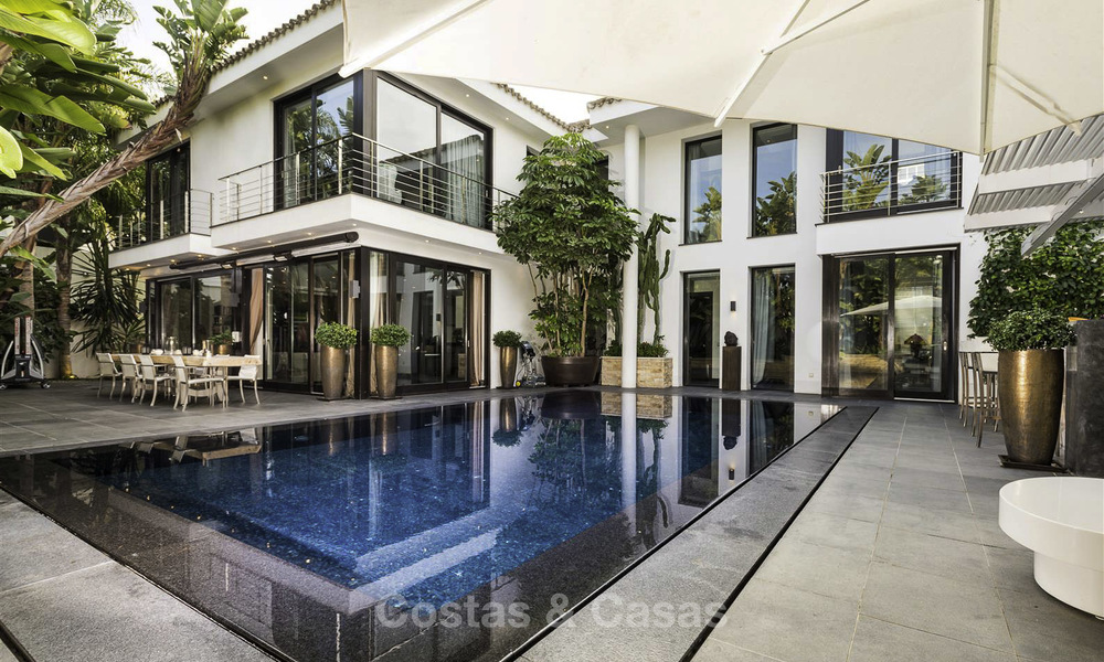 Stunning and unique contemporary luxury villa for sale, in an exclusive beachside urbanisation in East Marbella 17375