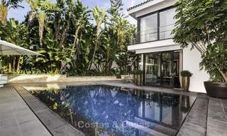 Stunning and unique contemporary luxury villa for sale, in an exclusive beachside urbanisation in East Marbella 17376