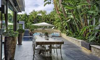 Stunning and unique contemporary luxury villa for sale, in an exclusive beachside urbanisation in East Marbella 17378